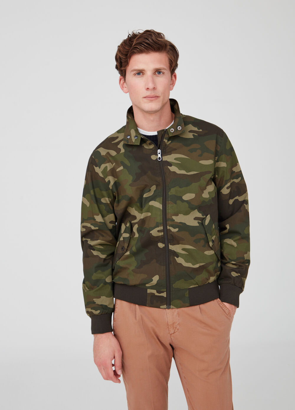 Rumford camo jacket with high neck