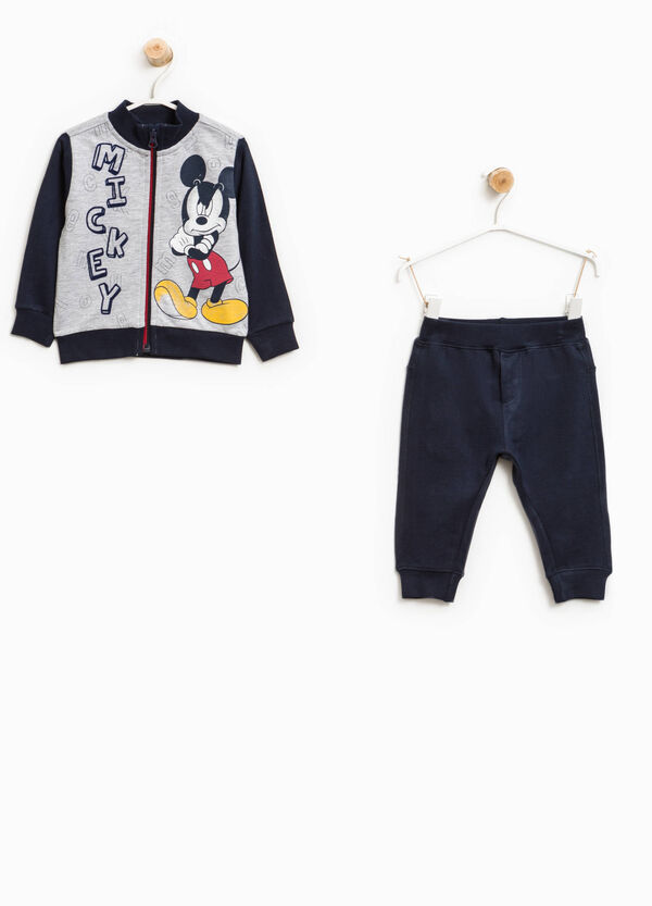 Mickey Mouse print cotton tracksuit