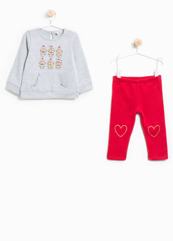 100% cotton tracksuit with Christmas print | OVS