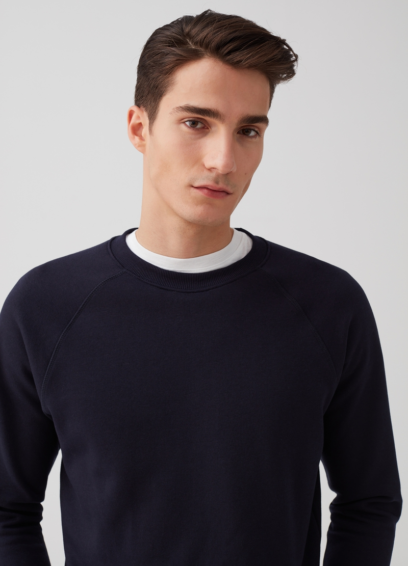 Sweatshirt with round neck and ribbing image number null