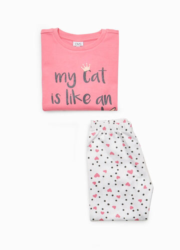 100% cotton pyjamas with polka dots and hearts