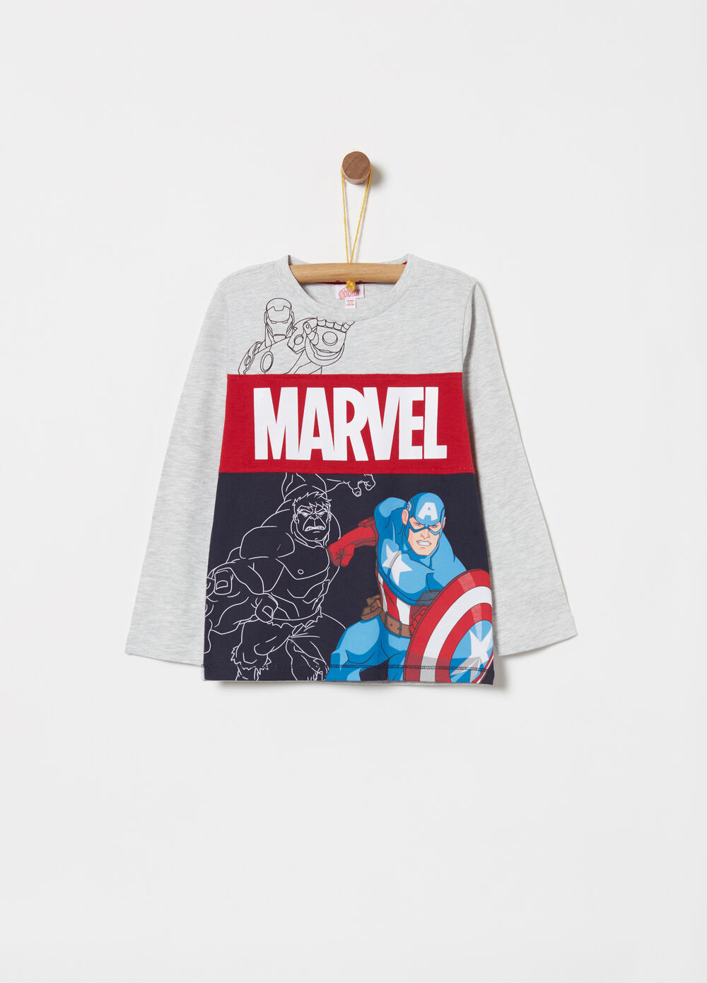 T-shirt with contrasting Avengers inserts
