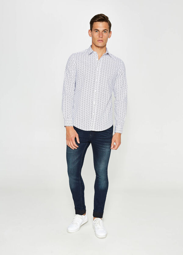 Camicia casual con stampa all-over