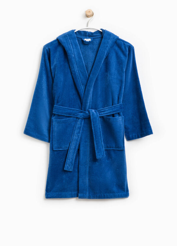 Robe in cotton with hood | OVS