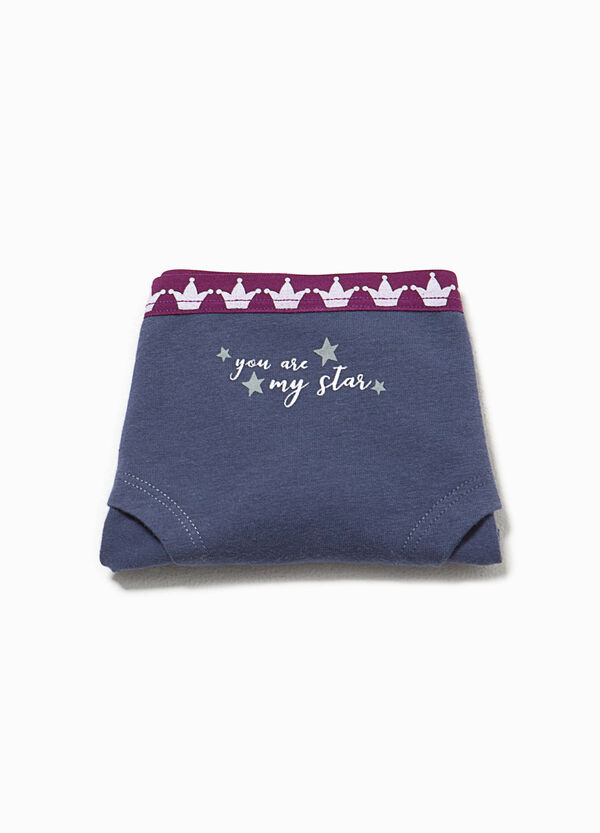 Better Cotton lettering and crowns French knickers | OVS