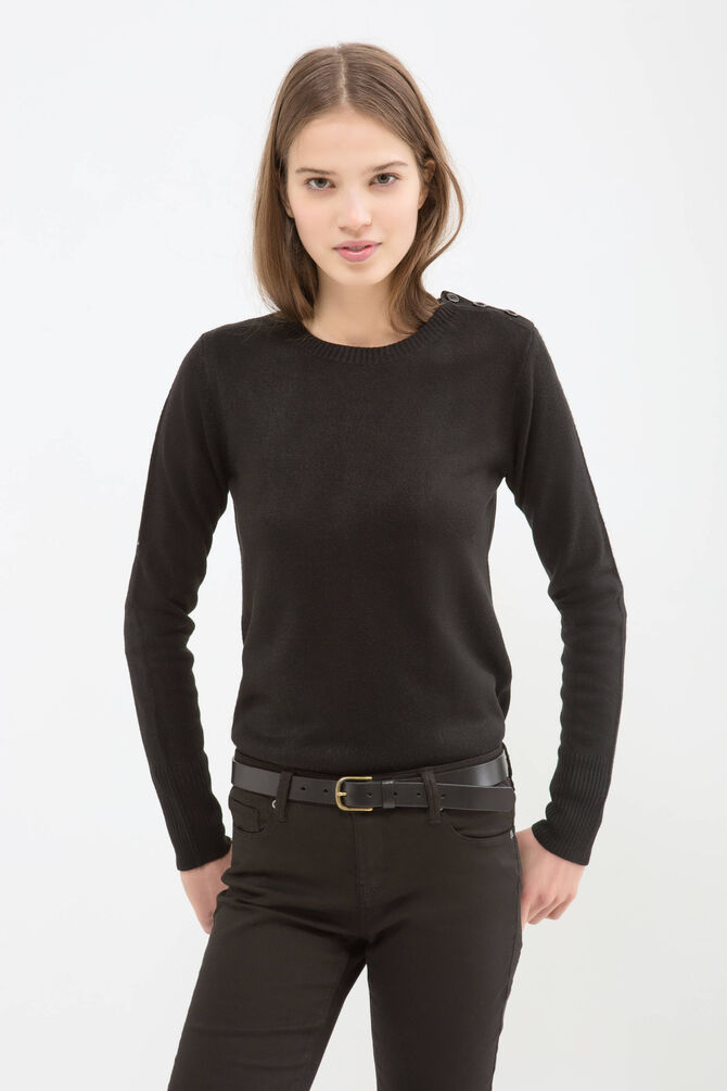 Solid colour knitted pullover