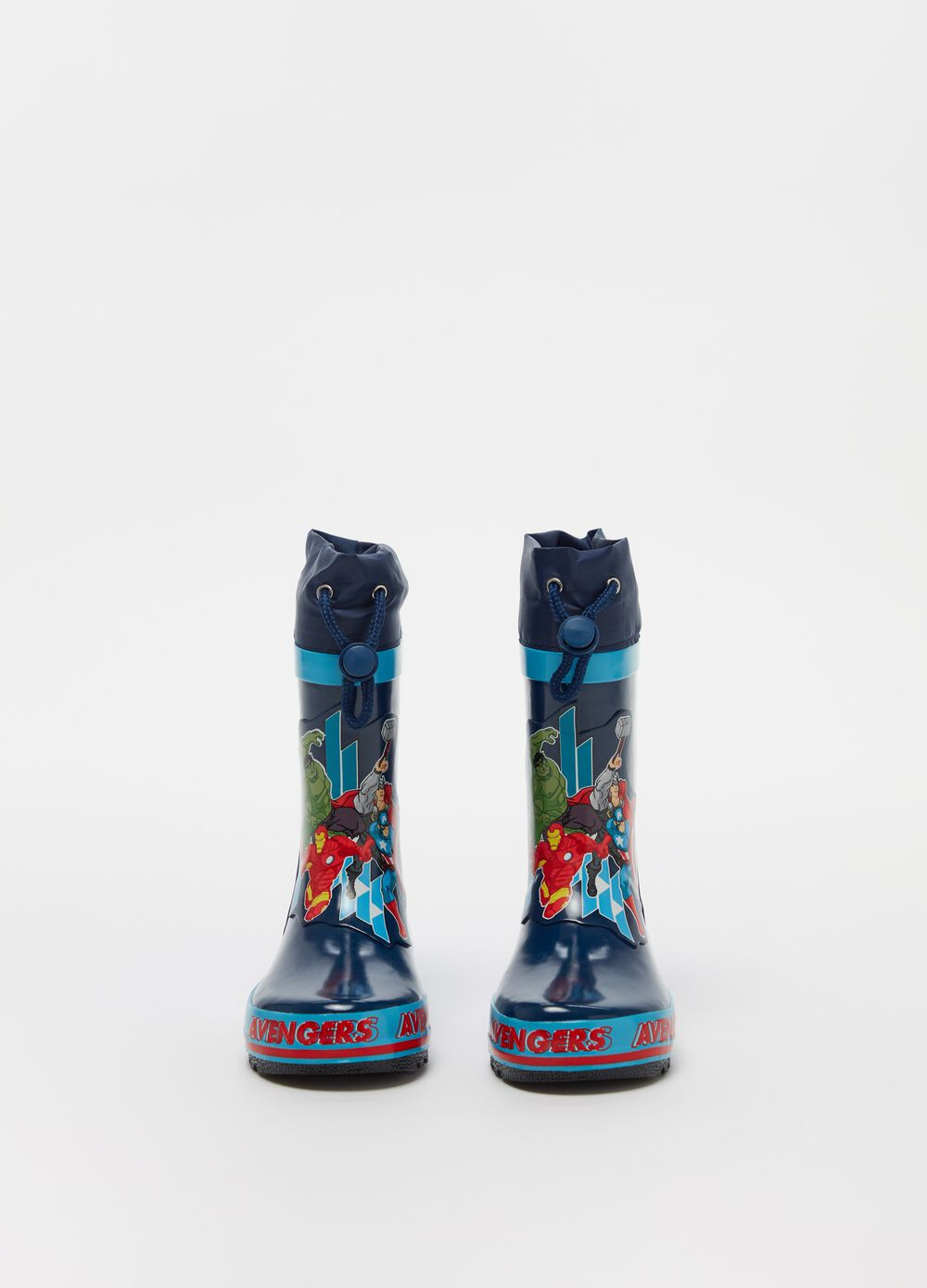 Avengers rain boots with drawstring
