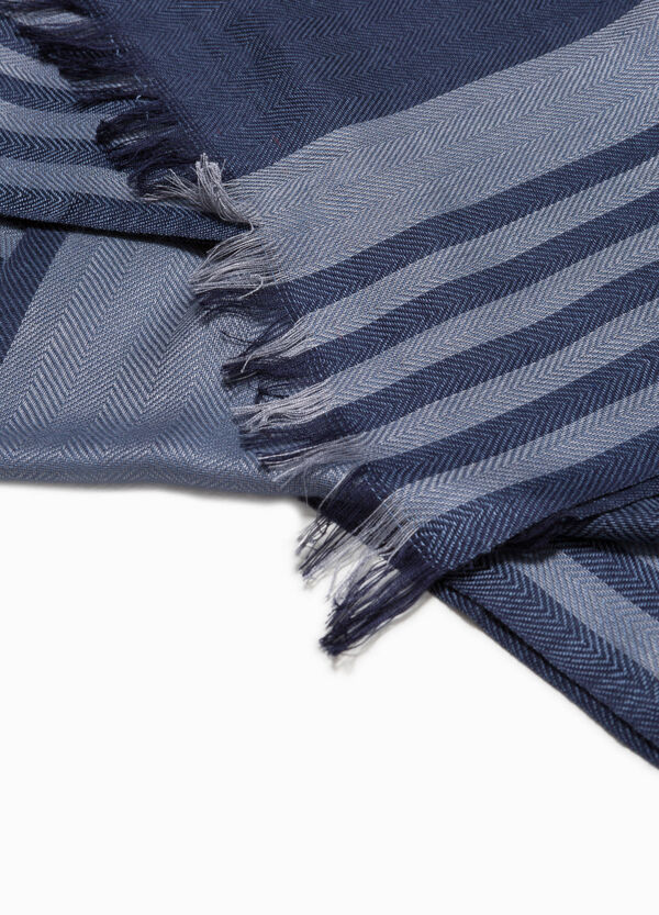 Striped scarf in 100% viscose | OVS