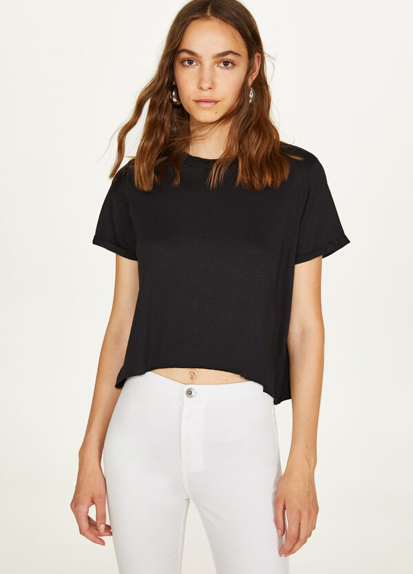 Modal and cotton T-shirt