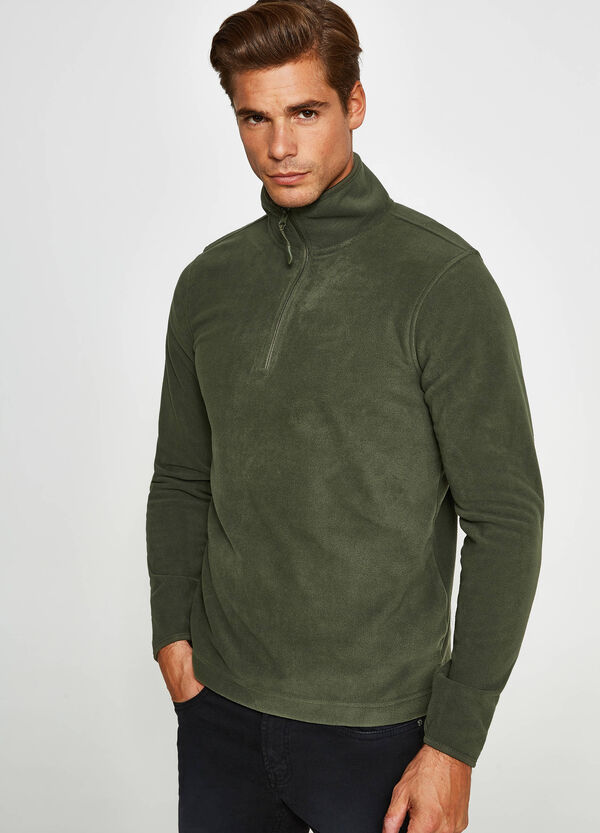 Fleece sweatshirt with high neck | OVS