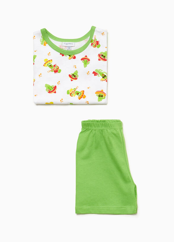 Cactus pattern pyjamas in cotton