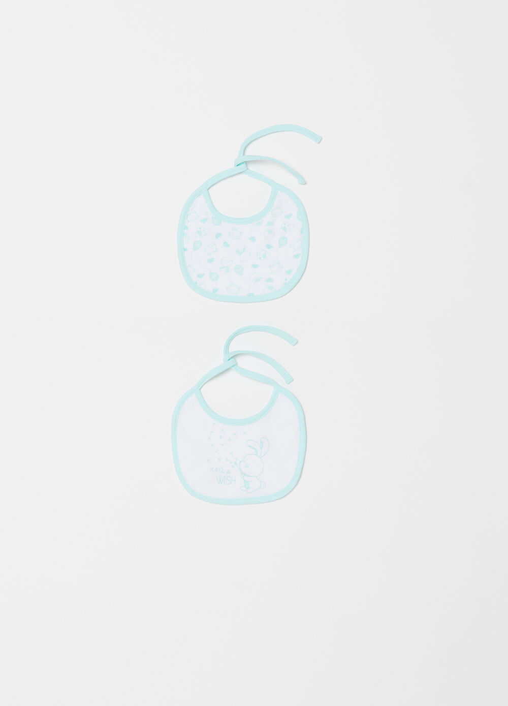 Two-pack small bibs in lined cotton