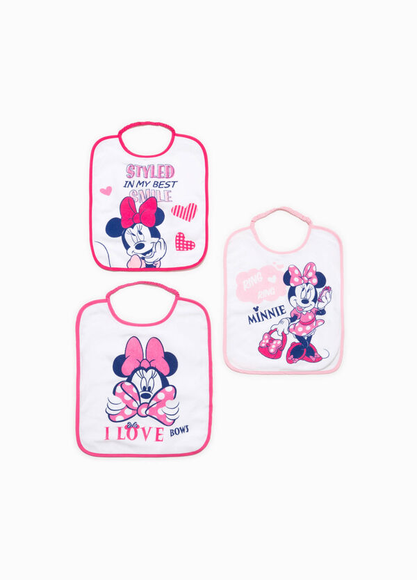 Three-pack bibs with Minnie Mouse print | OVS