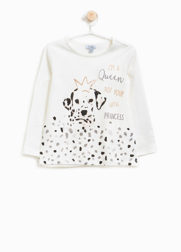 T-shirt in 100% cotton with dalmatian print