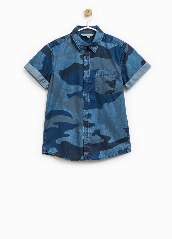 Camouflage shirt in cotton | OVS