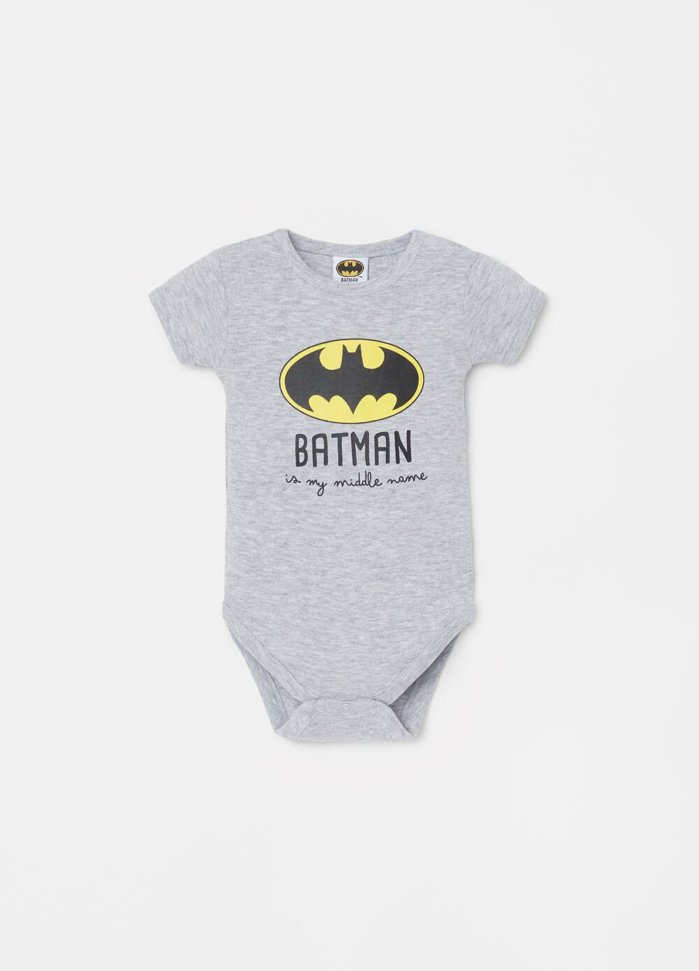 100% organic cotton bodysuit with Batman print