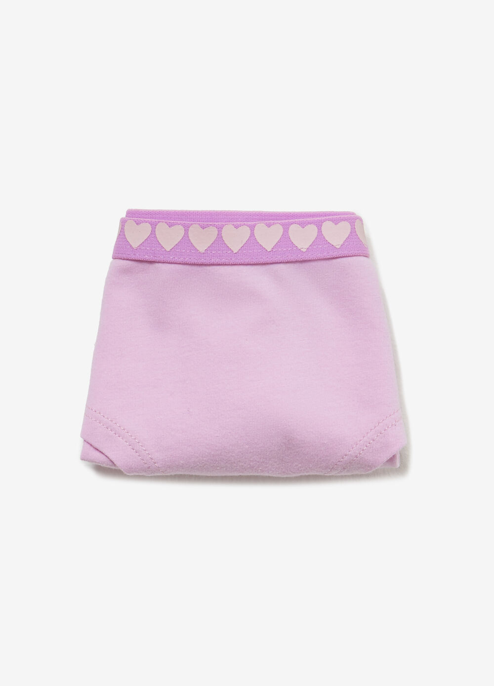 Stretch cotton French knickers with hearts print