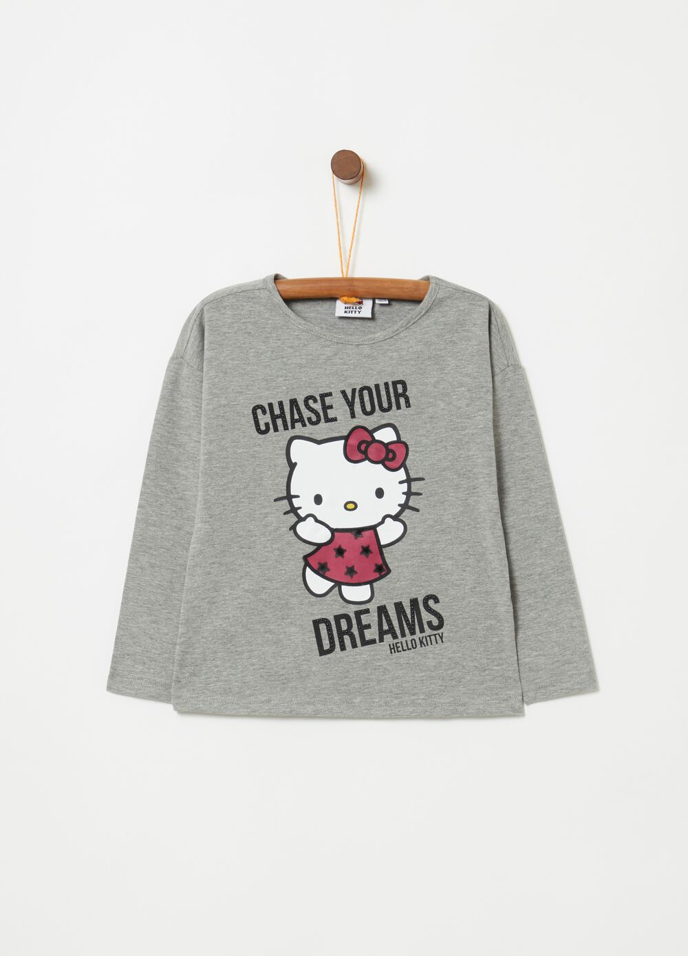 Mélange T-shirt with Hello Kitty print