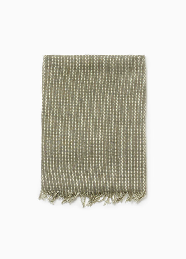 Speckled scarf in 100% cotton