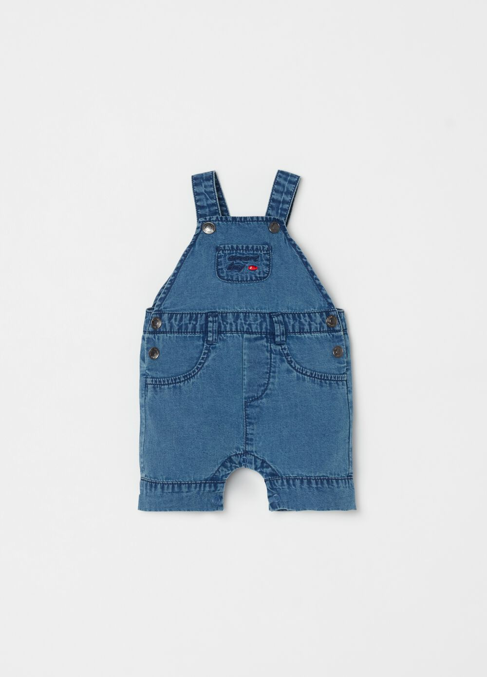 Denim dungarees with pockets