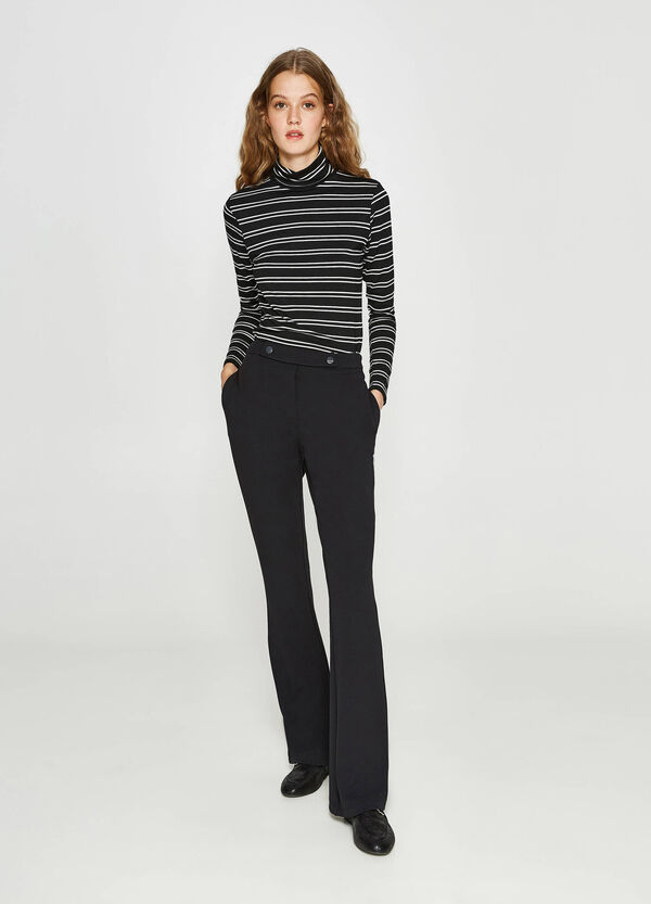 Stretch trousers with buttons | OVS