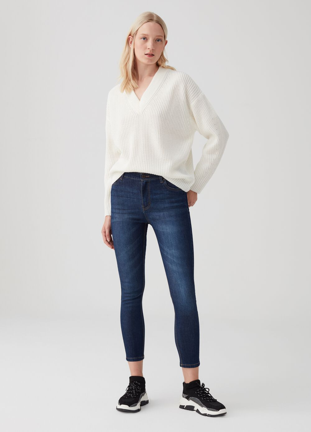 Stretch superskinny jeans with five pockets