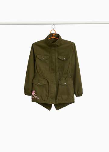 Parka in 100% cotton with print