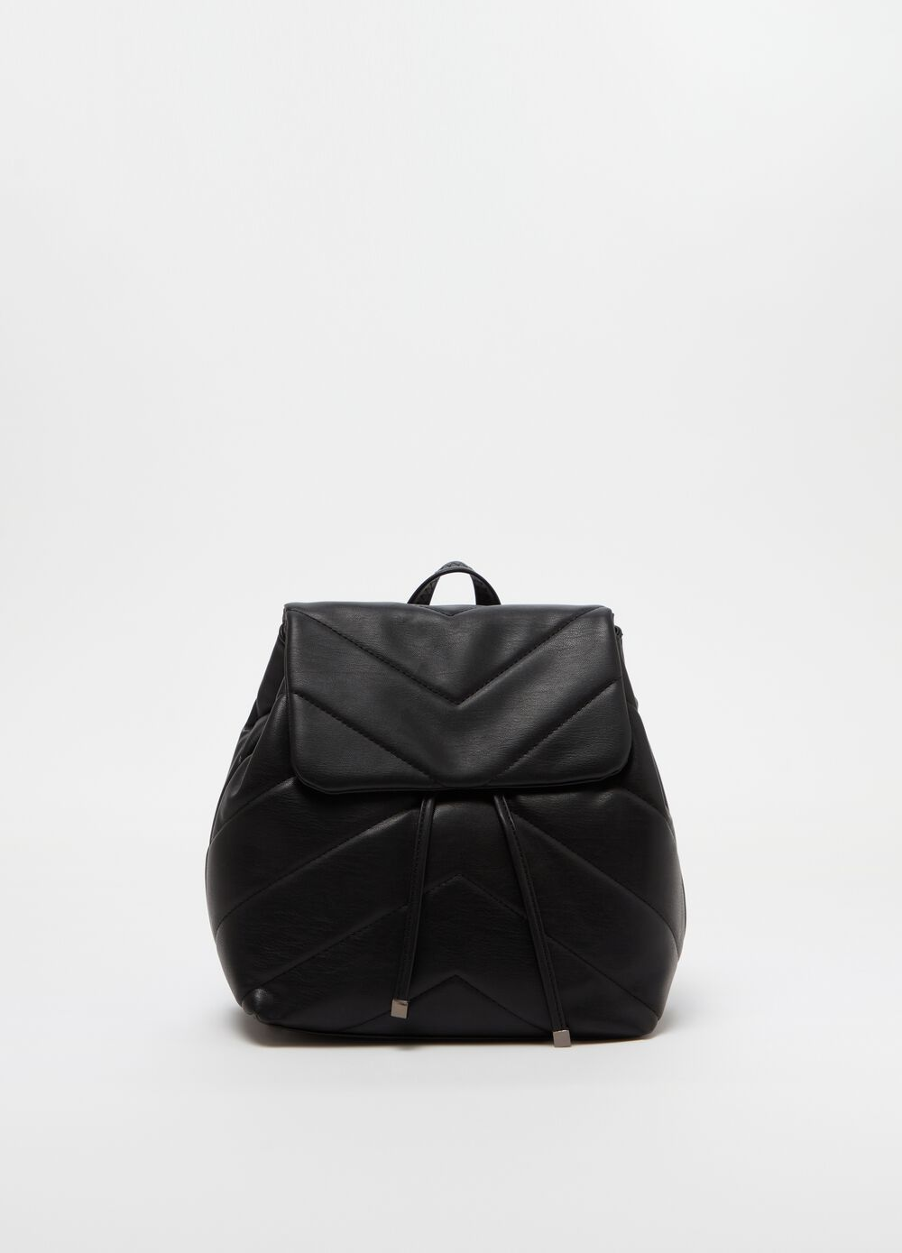 Quilted backpack with drawstring