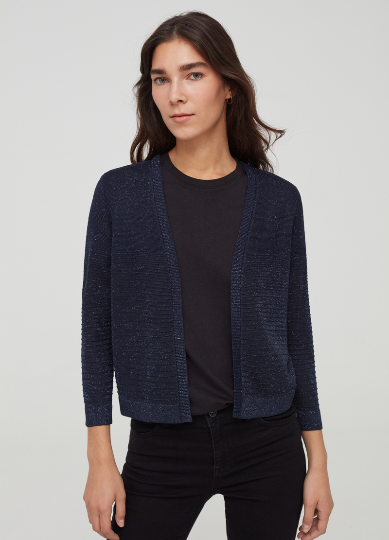 Open cardigan with lurex image number null