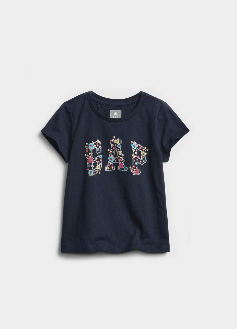 GAP T-shirt with floral logo print image number null