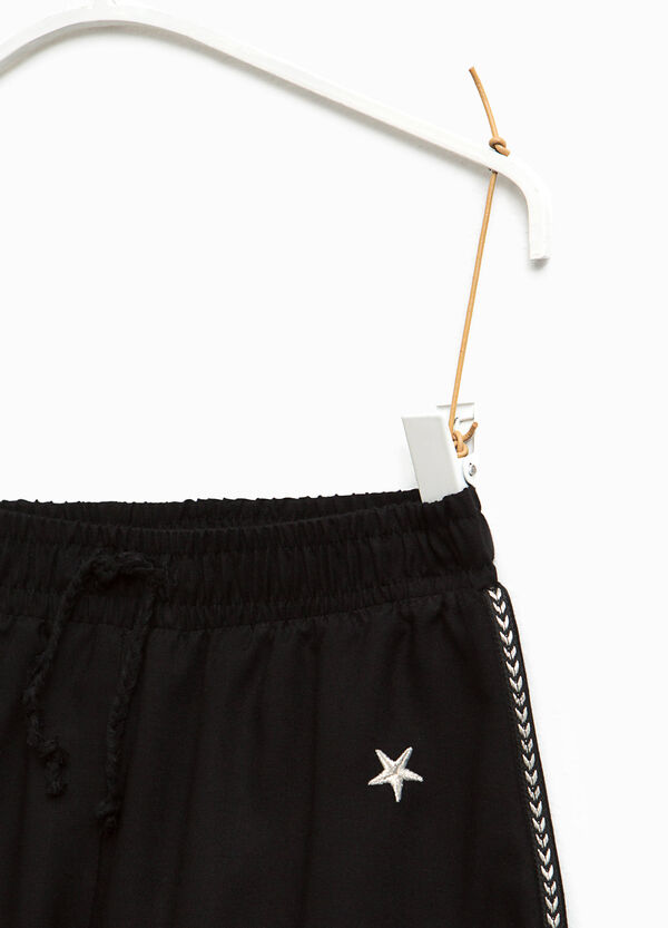 Viscose shorts with embroidery | OVS