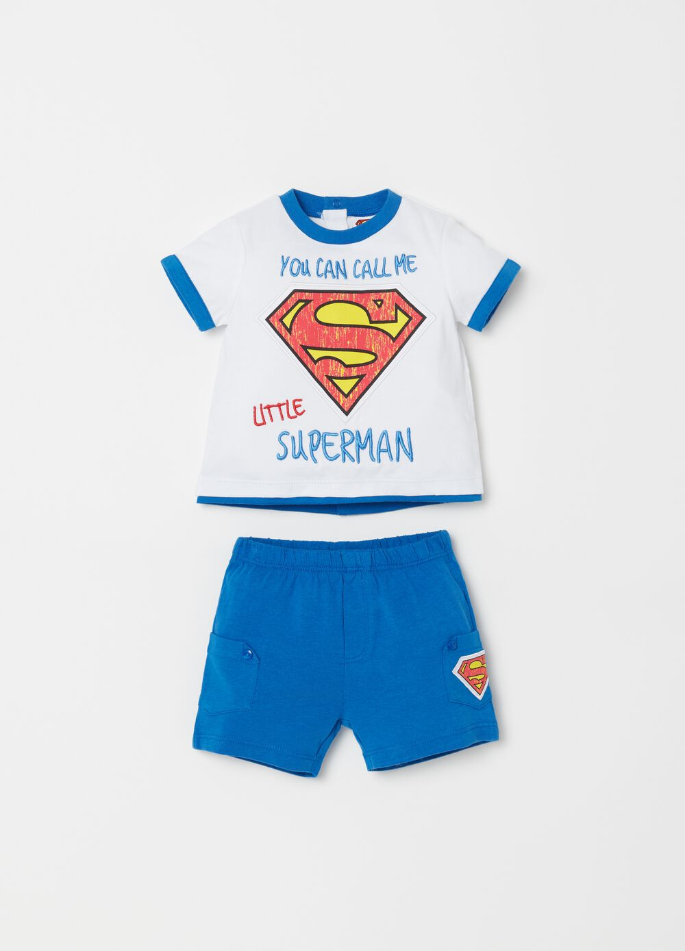 T-shirt and shorts set with Spiderman print