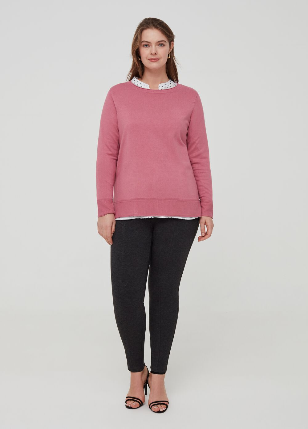 Curvy stretch viscose leggings