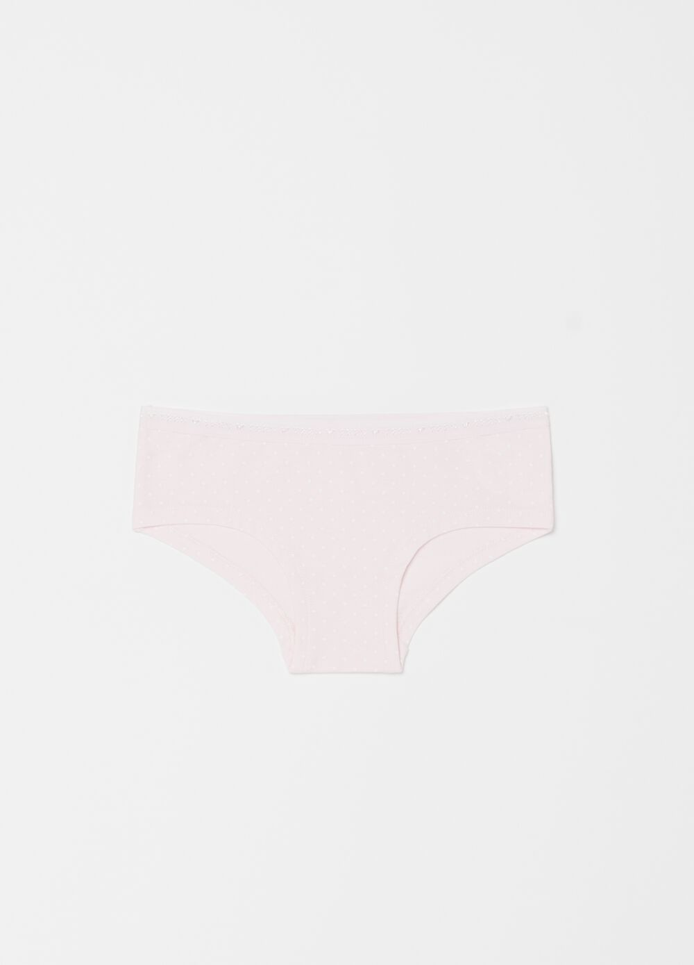Organic cotton French knickers with polka dot pattern