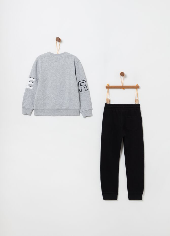 French terry jogging set with lettering