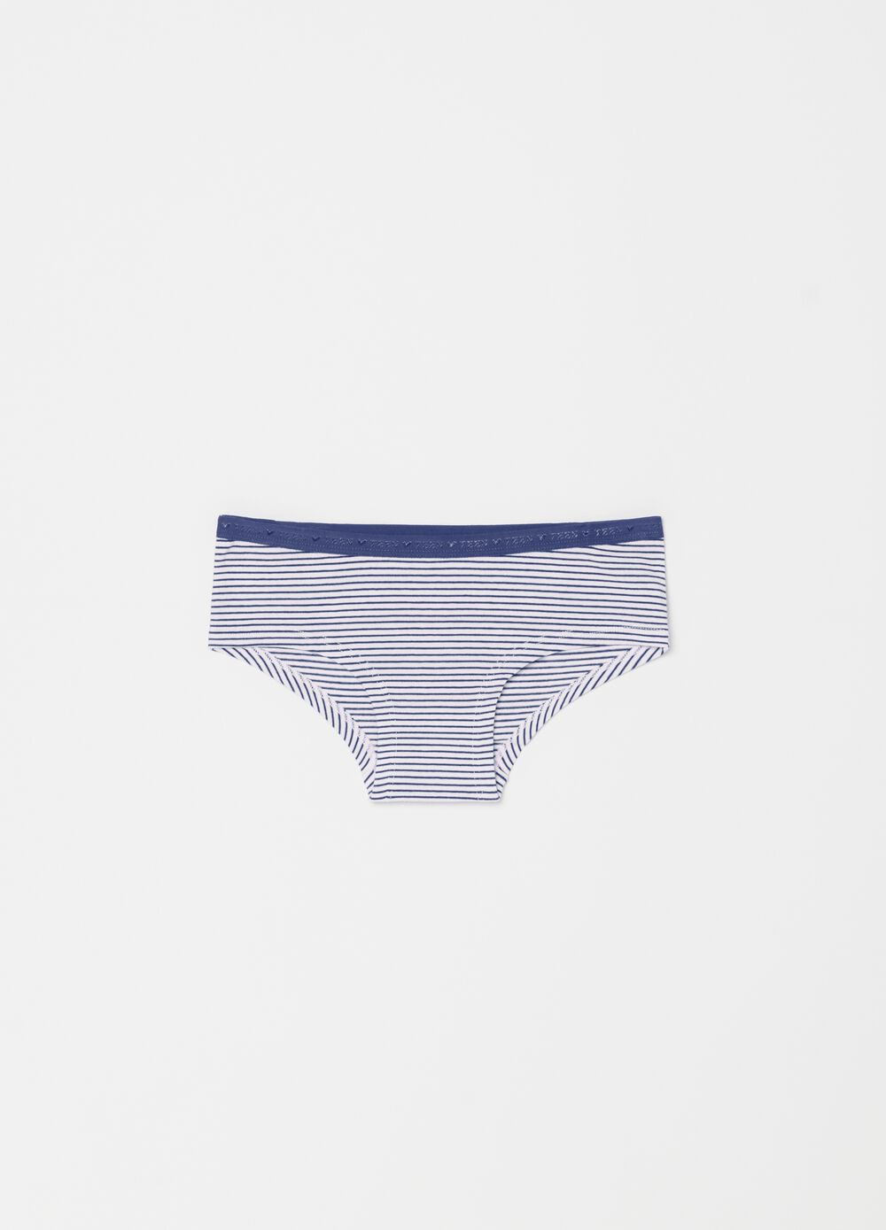 Stretch organic cotton boxer shorts with stripes