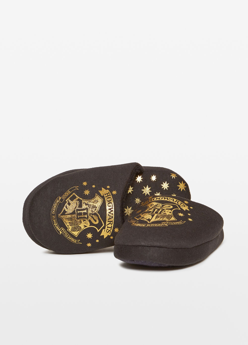 Slippers with glitter Harry Potter print