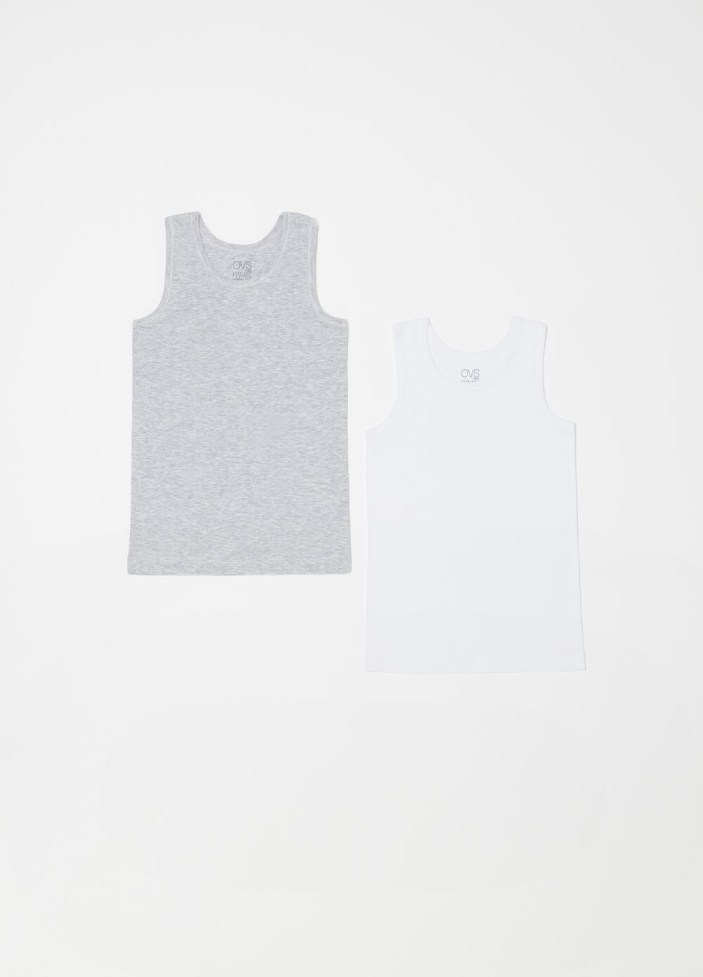 Two-pack organic cotton racerback vests