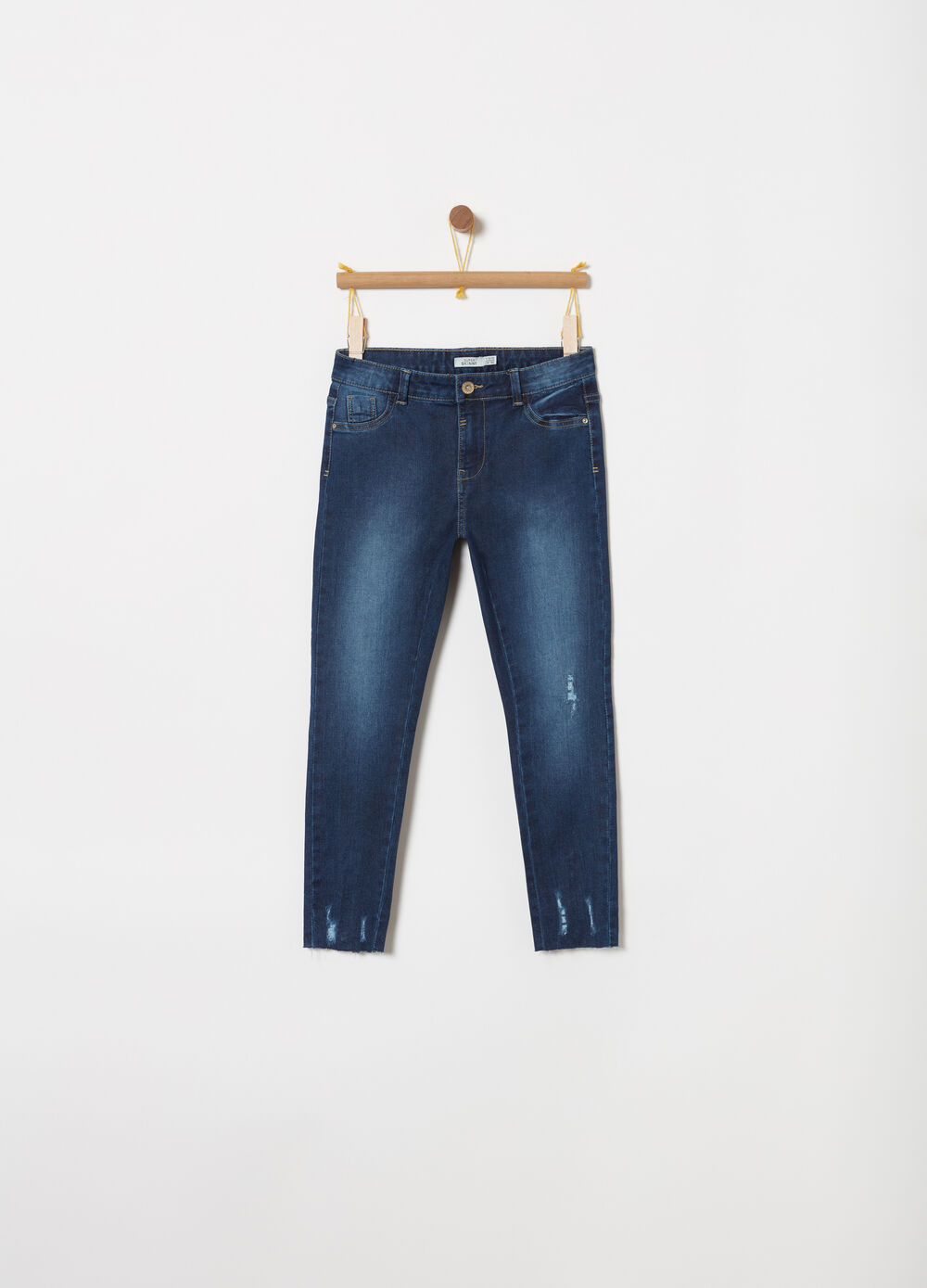 Jeans superskinny stretch con cerniera