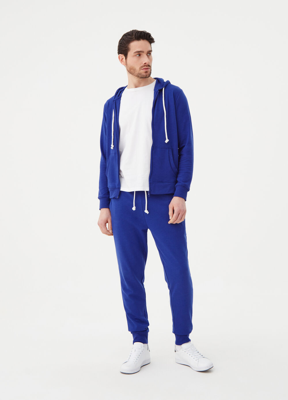 Pantalone joggers French Terry con string