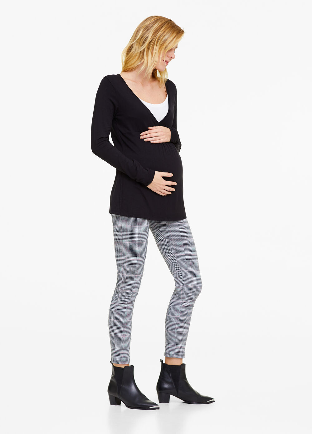 MUM patterned stretch leggings