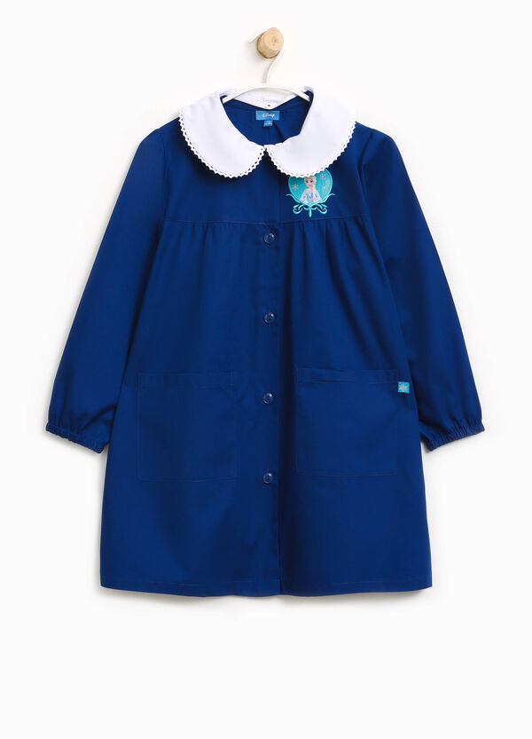 Cotton blend smock with patch and embroidery | OVS