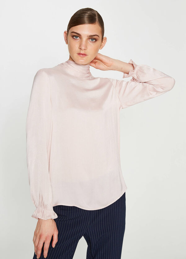 Blouse with tie fastening on the back | OVS