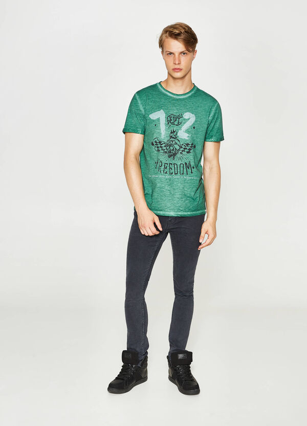 Mélange T-shirt with faded seems | OVS