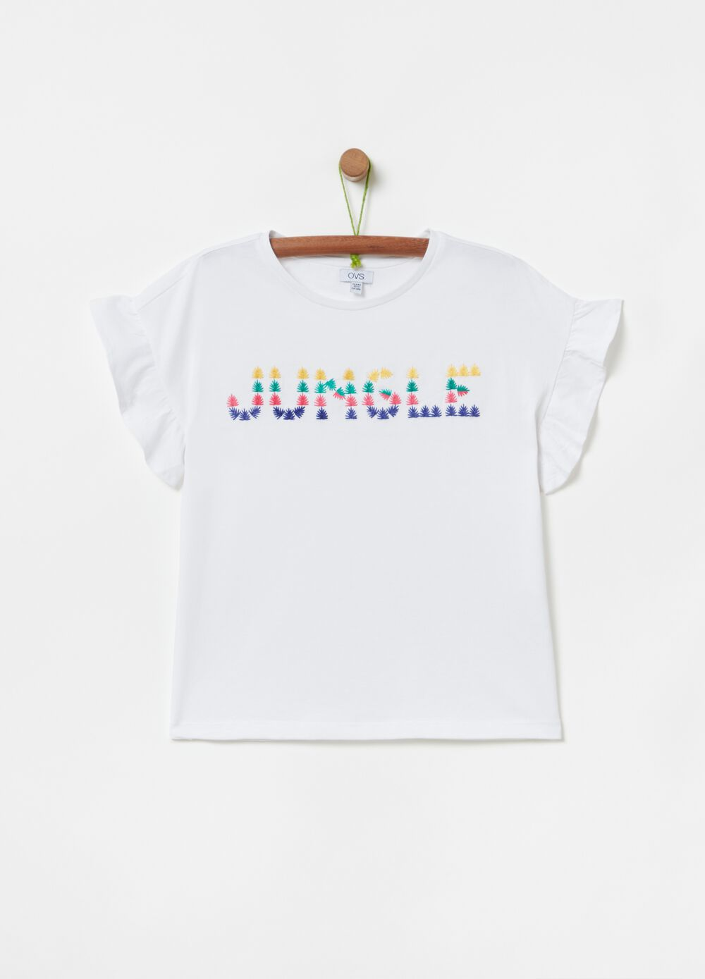 T-shirt with lettering print and fill