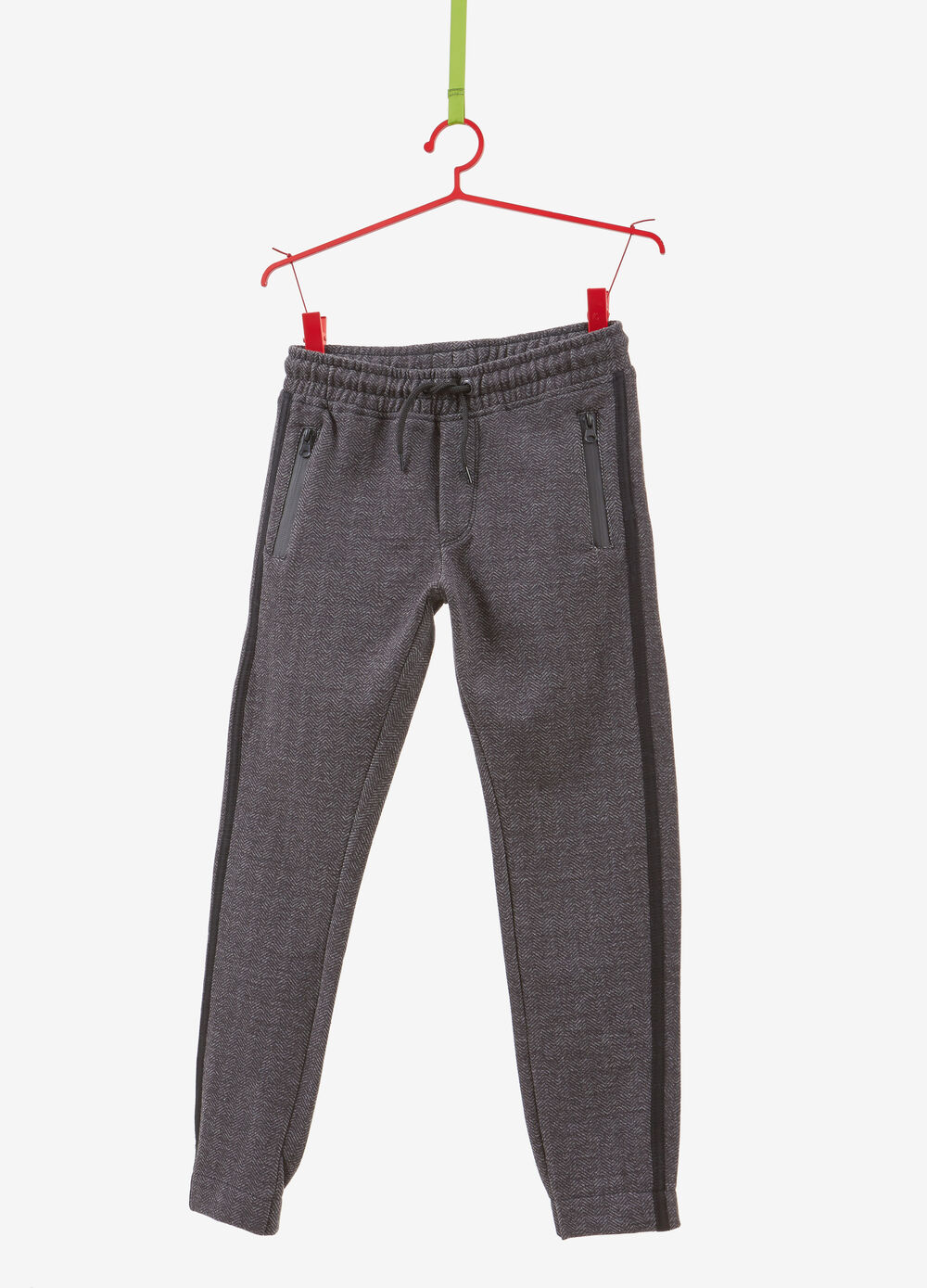 Cotton blend trousers with bands