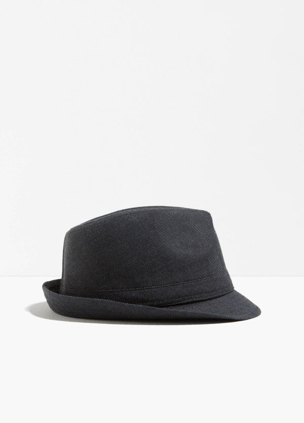 Wide brim hat with speckled weave | OVS