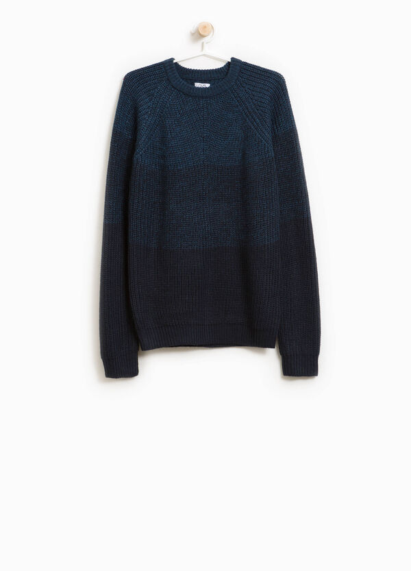 Two-tone knitted pullover | OVS