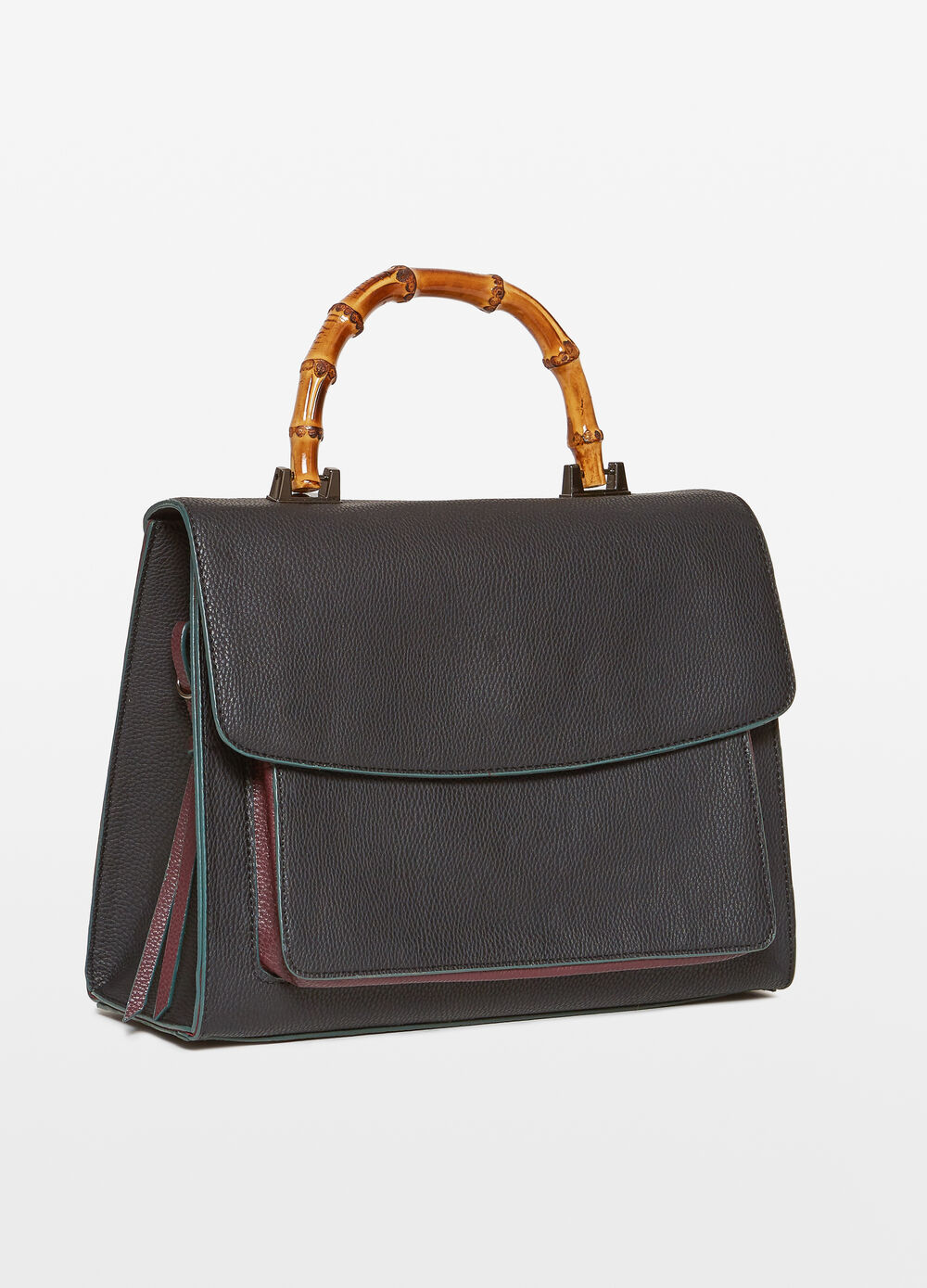 Briefcase with real bamboo handle