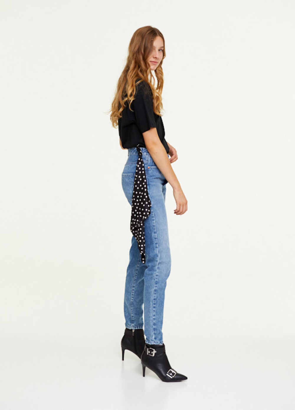 Reworked heritage mum-fit jeans